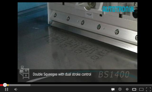 BS1400全自动对位锡浆丝印机视频