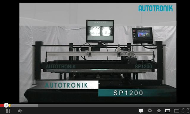SP1200半自动锡浆丝印机视频